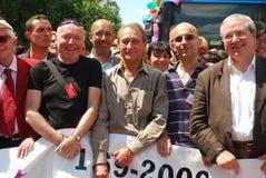 Bertrand Delanoe ad orgoglio gaio 2009 di Parigi immagine stock libera da diritti