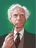 Bertrand Russell-Linie Kunstportr?t stock abbildung