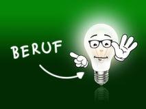 Beruf-Birnen-Lampen-Energie hellgrün Stockfotos