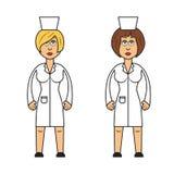Beruf eingestellt: Ärztinnen stock abbildung