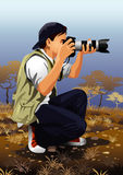 Beruf eingestellt: Fotograf Lizenzfreies Stockbild