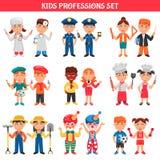 Beruf-Kinder eingestellt Lizenzfreie Stockfotos