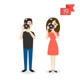 Berufcharaktere: Mann und Frau photograph lizenzfreie abbildung