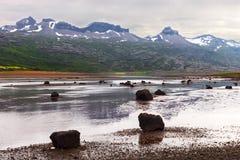 Berufjordur fjord, Djupivogur Iceland Stock Photos