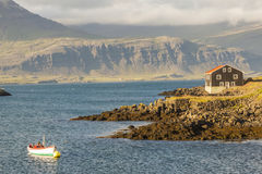Berufjordur fjord - Djupivogur village, Iceland. Stock Photo