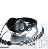 Berufs-DJ-Vinylspieler Lizenzfreie Stockfotos