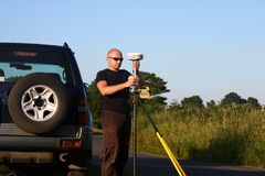 Berufs-GPS-Navigation Stockfotografie