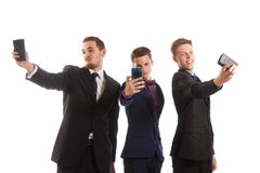 Berufs- lustige selfies Lizenzfreie Stockfotografie