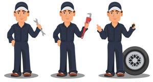 Berufsautomechaniker in der Uniform Lizenzfreies Stockbild