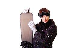 Berufsbaumuster mit Snowboard. stockbilder