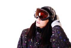 Berufsbaumuster mit Snowboard. stockfotos