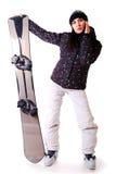Berufsbaumuster mit Snowboard. lizenzfreie stockbilder