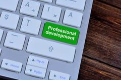 Berufsentwicklung auf Tastaturknopf Lizenzfreies Stockfoto