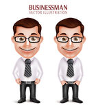 Berufsgeschäftsmann-Charakter-glückliches Lächeln Lizenzfreies Stockbild