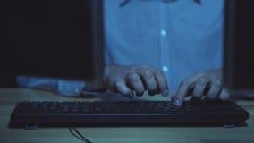 Berufshacker, der IP address des Servers erhält stock video