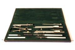 Berufskasten der Zeichnungsinstrumente lizenzfreies stockbild