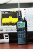 Berufskommunikations-Radioscanner stockbilder