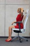 Berufskrankheitsverhinderung des Büros Stockbild