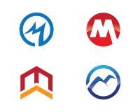 Berufslogoschablone M Letter Business Finance Stockbild