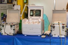 Berufsmake-upausrüstung Stockfotos