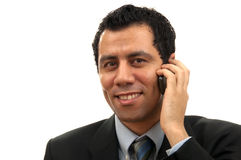 Berufsmann, der das Telefon beantwortet Lizenzfreies Stockfoto