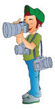 Berufsphotograph, Abbildung Stockfotos