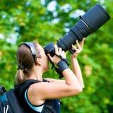 Berufsphotograph im Freien Stockfotos