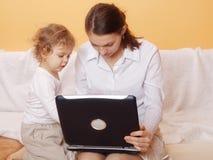 Berufstätige Mutter Lizenzfreie Stockfotografie