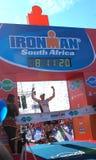 Männlicher Sieger Ironman Südafrika 2013 Lizenzfreies Stockfoto