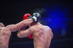 Berufsverpacken des boxers zwei Kampfsport stockfoto