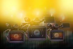 Berufsvideokameras Lizenzfreie Stockfotos