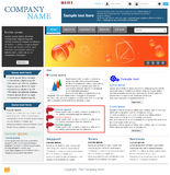 Berufswebsite-Schablone Stockfoto