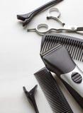 Berufswerkzeuge des Friseurs Stockfoto