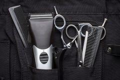 Berufswerkzeuge des Friseurs stockbilder