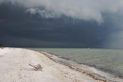 Beruhigen Sie vor dem Sturm Stockbild