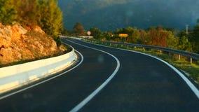 Beruhigende Fahrt im Sonnenuntergang in Kroatien, Dalmatien stockbild