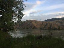 Beruhigender Kamloops-Sonnenuntergang Lizenzfreie Stockfotografie