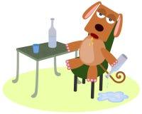 Berusad hund royaltyfri illustrationer