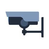 Überwachungskamerasicherheits-Technologievektor Stockfoto
