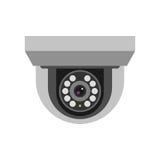 Überwachungskamerasicherheits-Technologievektor Stockfotografie