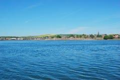 Berwick επάνω στο τουίντ, τον ποταμό, churchtower και τους τοίχους πόλεων στοκ φωτογραφίες