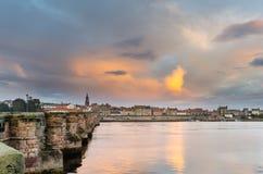 Berwick και παλαιά γέφυρα Στοκ Εικόνες