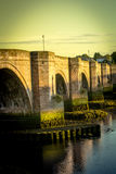 Berwick Bridge, also known as the Old Bridge, spans the River Tweed in Berwick-upon-Tweed, Northumberland, England Royalty Free Stock Photo