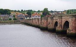 Berwick Bridge Berwick-på-tweed, Northumberland, England Royaltyfri Fotografi