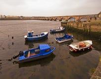 Berwick Bridge and River Tweed Royalty Free Stock Photos