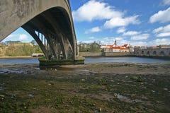 Berwick sopra tweed ed il tweed del fiume Immagini Stock Libere da Diritti
