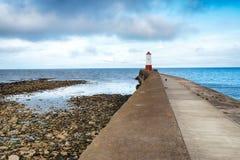 Berwick sur le phare de tweed Photo stock