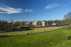 Berwick upon Tweed Barracks and the Main Guard. The barracks were built between 1717 and 1721 during the Jacobite risings. There are two parallel blocks of stock photo