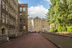 View of New Lanark Heritage Site, Lanarkshire in Scotland, United Kingdom, Europe. Stock Photography