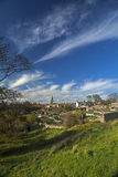 Berwick upon Tweed, England. A view over the town of Berwick upon Tweed, England, just a few miles south of the Scottish border, from the Elizabethan town walls Royalty Free Stock Photos